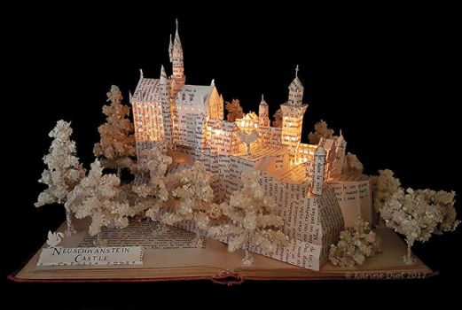 NEUSCHWANSTEIN CASTLE BOOK SCULPTURE by KarineDiot