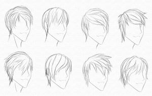 Guy Hair Styles 2-9-10 by CrimsonCypher