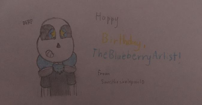 (B-Day Gift) And Now, A Derpy Blueberry by Sanstheskelepun10