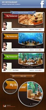 My Restaurant | Facebook Timeline Cover #06 by artefaelmarques