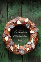 Christmas Chocolate Wreath by kupenska