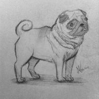 Pug by LolowaCx