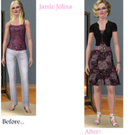 Sims Makeover: Jamie Jolina by Soraply11