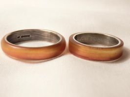 Resin Wedding Rings by Jewellery-jen