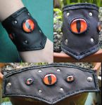 Evil Eye cuff Daylight by savagedryad