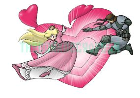 SSBB: Peach vs Snake by AdzStitch