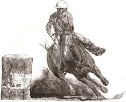 Jody Barrel racing by EqUiNeArTiStFoReVeR