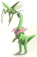 Meganium vs. Scyther by altered-worlds