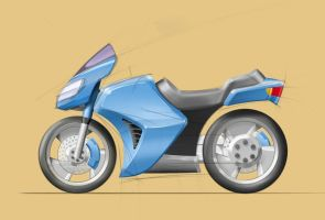 Motorcycle sketch by lithaen