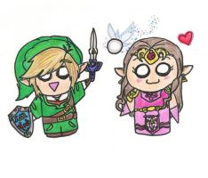 Link, Zelda, and Navi by HeyIzzy11
