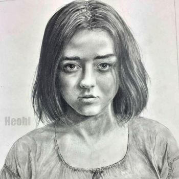 Arya Stark portrait (Game of Thrones) by Heohl