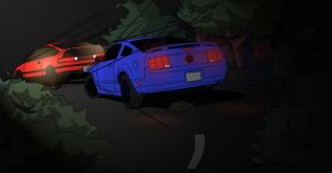 CRX and Mustang by KoeiX2
