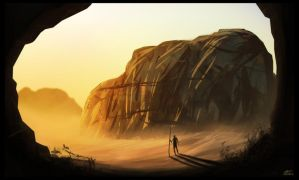 .:Death Valley Speedpaint:. by mrConceptual