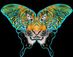 WIP Tiger Butterfly. by InuRyoko