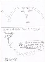 Kaven and Rose Shorts-  32 by DazzyDrawingN2
