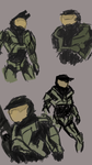 Sketches-- Master Chief by VioletWidows