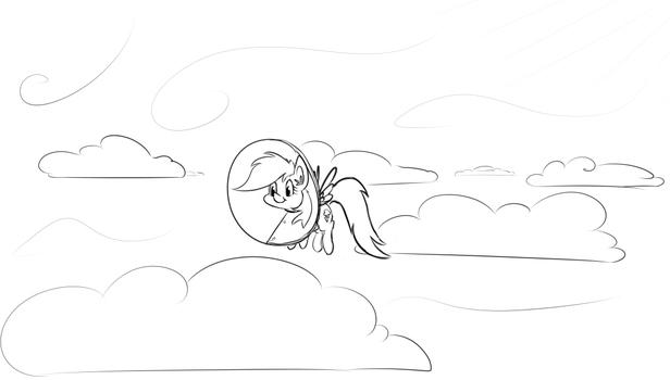 Rainbow flew home from her doctors visit by abzde