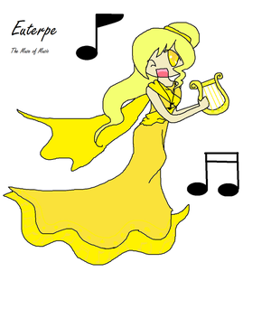 Euterpe the Muse of music