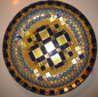 Mosaic plate by Sstroitel