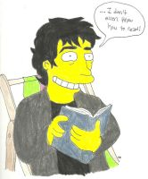 Gaiman's Book Job by TheSimpsonsFanGirl