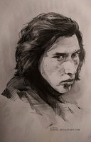 Kylo Ren - sketch 2 by jodeee