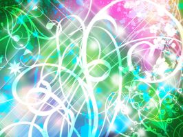 .:Sparkly Green Background:. by MamuEmu