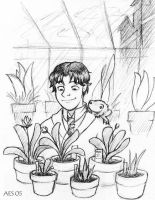 Neville in the Greenhouse by laerry