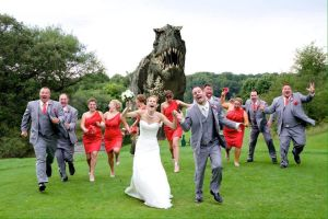 Everyone run for you're life! T-Rex is coming by Velociraptor34