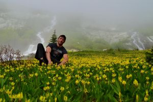 me and wildflower meadow by BCMountainClimber