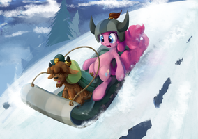 Little-Yak-and-Pinkie by ScootieBloom