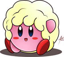 Fluffy Pink Puff Ball by amaitsuno