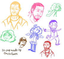 Walking Dead Doodles by EmzieTowers