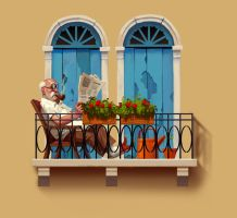 balcony by Monkill