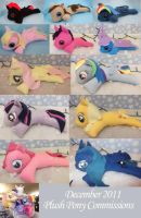 December 2011 MLP Plush commissions by bluepaws21