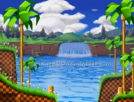 Sonic Green Hill Zone HD by KaenDD