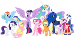 Mane 6 and the Royals by eillahwolf