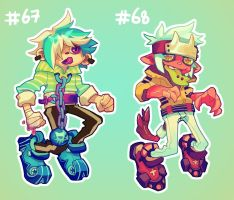 [closed] Adoptables 67 and 68 by HJeojeo