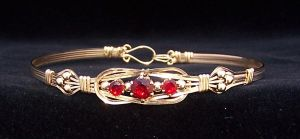 Lab Ruby Bracelet by CrafterGod
