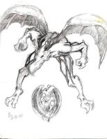 Sketch of a the Living Gargoyle by urbantrixsta