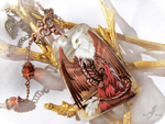 White headed dragon necklace by AlviaAlcedo