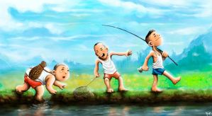 Great Day for Fishing by pop-ipop