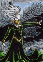 Morrigan Sketch Card - Classic Mythology II by tonyperna