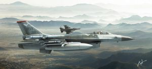 Fighting Falcons by rOEN911