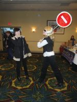 Shizou and Izaya at anime day by EeKeRs05