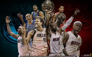 2011 Mavs Heat Final Wallpaper by Angelmaker666