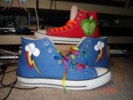 MLP Shoes - Rainbow Dash and Big Macintosh by DJChocoKay