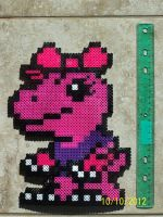 Agamon Perler Beads by Destiny-The-Hedgimon