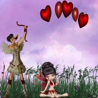 Cupid target practice by anniexhx