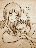 NaruHina Lineart: Our New Sun by Kurorama