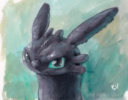 Toothless by Penny-Dragon